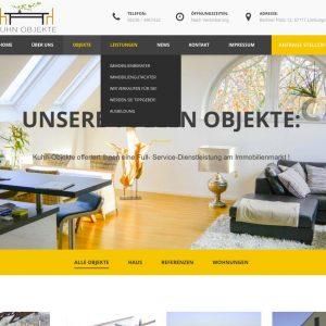 Neue Webseite / Kuhn Objekte