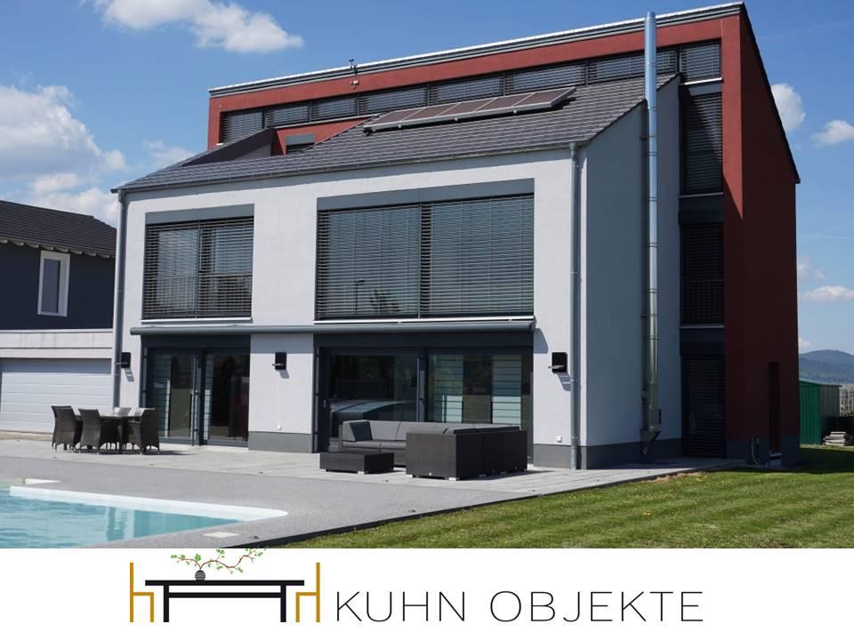 Moderne villa am rande der weinberge mit pool sauna und heimkino