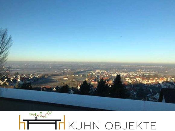 421/Weinheim –  Weinheim Höhenlage mit sensationellem Blick in die Rheinebene