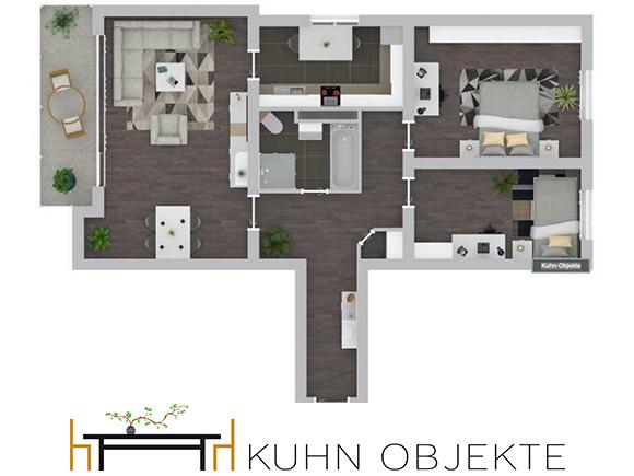 426/ Modernisierte Eigentumswohnung mit Balkon und Aufzug in Schwetzingen