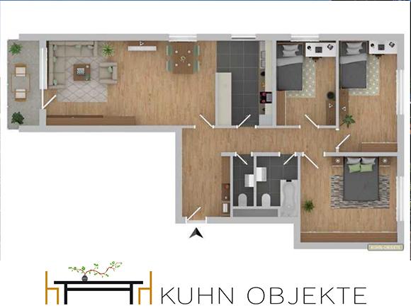444/ Großzügige Wohnung mit Balkon und Tiefgarage – Schwetzingen