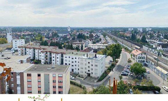 443/ Schöne, helle Wohnung mit Balkon und toller Weitsicht / Limburgerhof