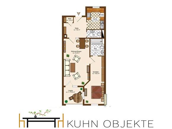471/ Schöne 2-Zimmer Wohnung mit Loggia + Tiefgarage / Speyer