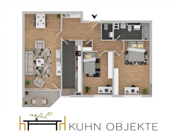 520/ Großzügige ruhige Wohnung mit Balkon / Frankenthal