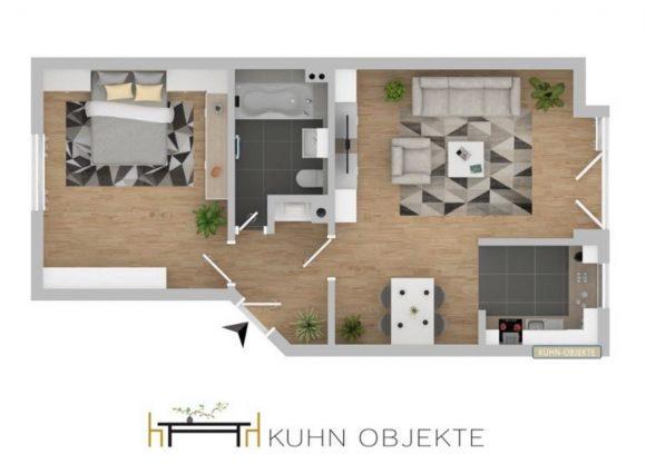 846/ Helle 2 Zimmer Wohnung mit Garage/ Ludwigshafen